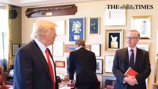 At last – Gove plays hisTrump.